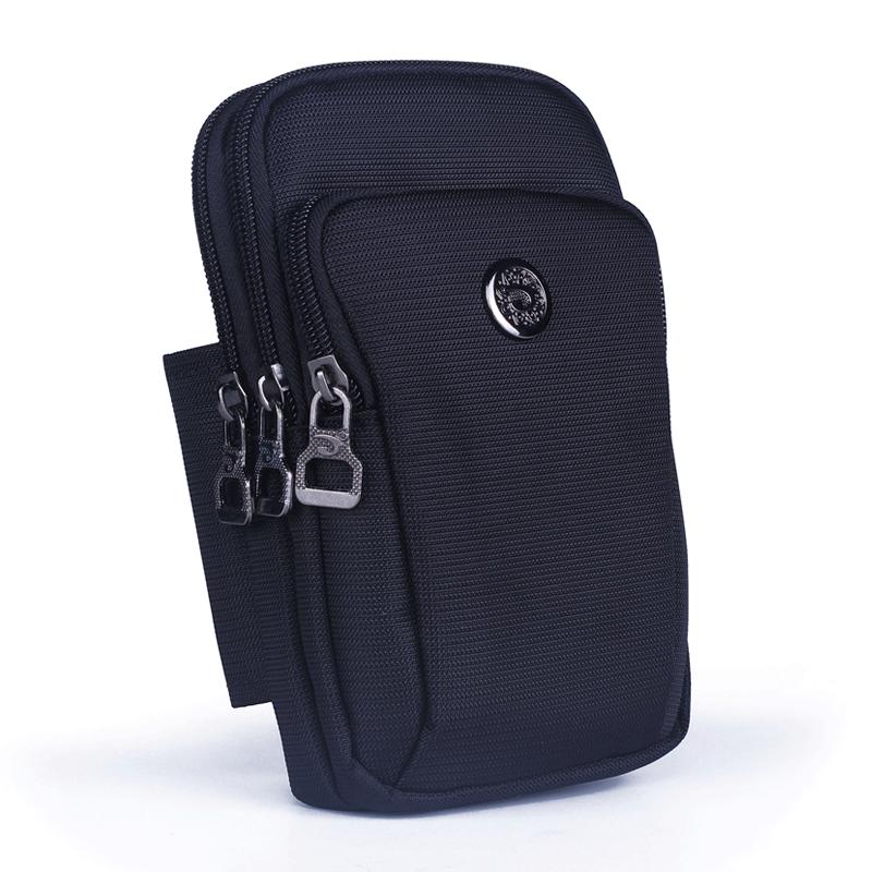 多功能6.6寸手机包迷你挂包零钱包户外旅行单肩斜跨穿皮带腰包男