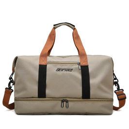 日本牛津布旅行包大容量登机行李袋干湿分离鞋仓套拉杆上出差健身