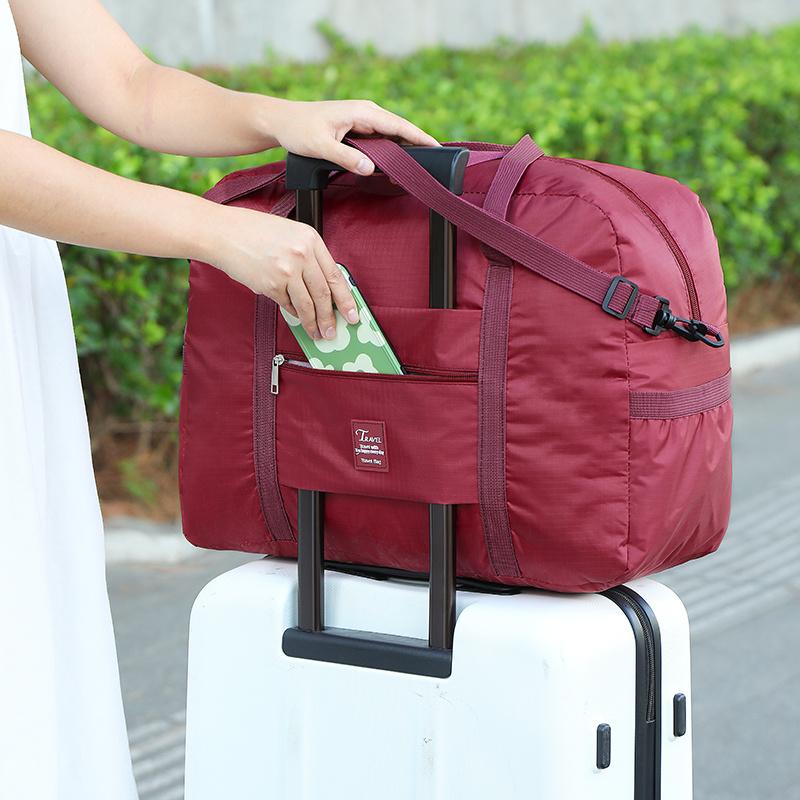 旅行包袋男女行李袋手提单肩包斜挎可套拉杆衣服收纳袋轻便大容量