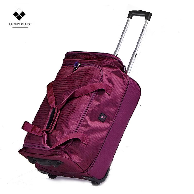 Lucky Club拉杆背包旅行包 手提帆布超大容量箱