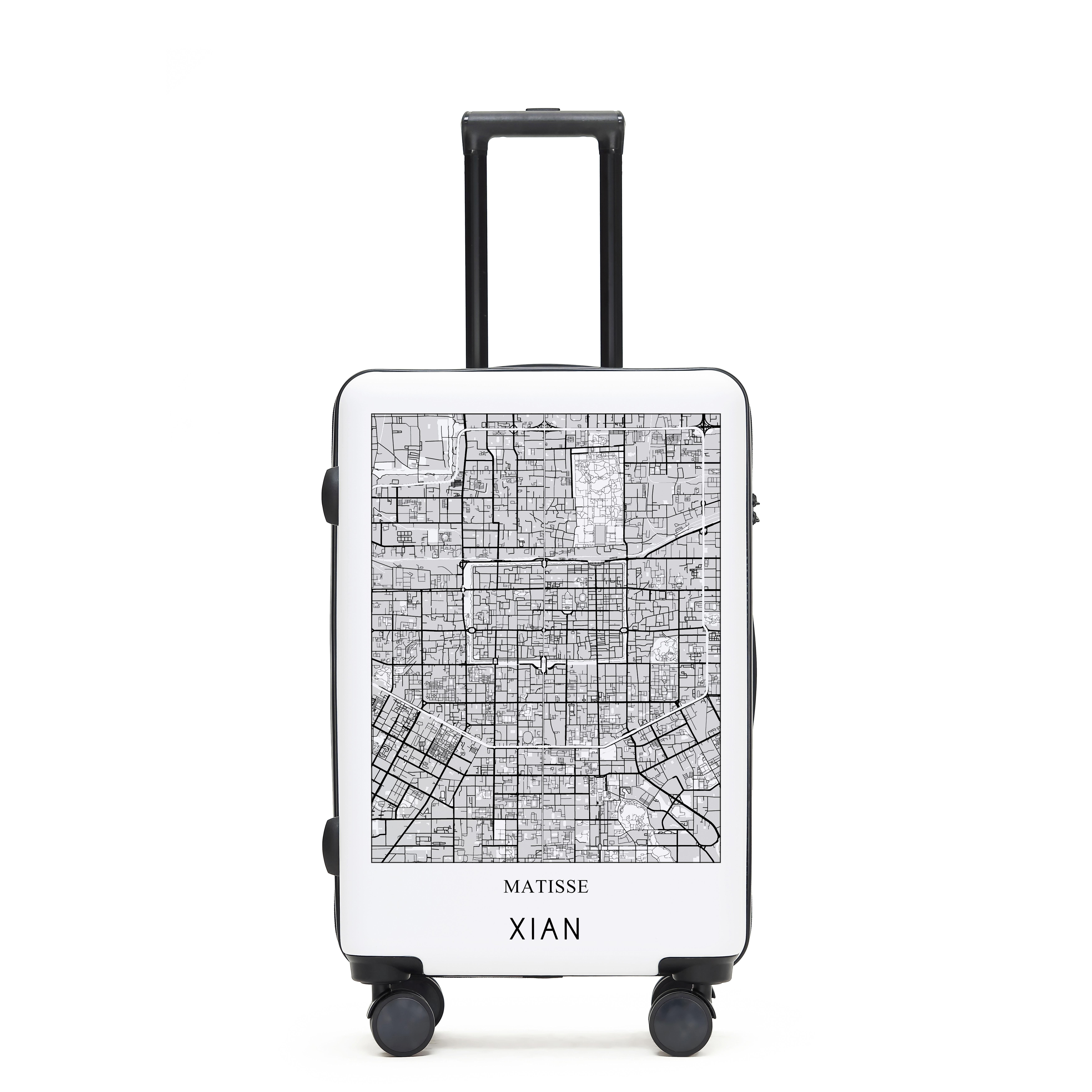 Matisse城市地图拉杆箱 旅行箱行李箱20寸24寸网红箱