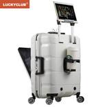 Lucky Club前置电脑行李箱商务旅行小型20寸拉杆箱子