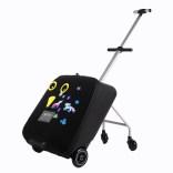 米高儿童行李箱 瑞士迈古micro懒人箱宝宝可坐骑登机拉杆箱