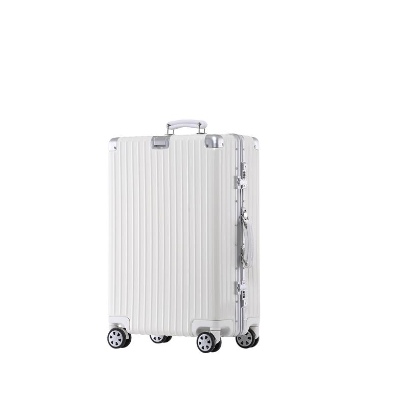 ISN拉杆箱旅行箱复古皮把手铝框20寸24寸行李箱潮流韩版登机箱