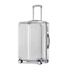 WRC亮面竖纹拉杆箱旅行箱行李箱W-J801银色24寸银色24寸