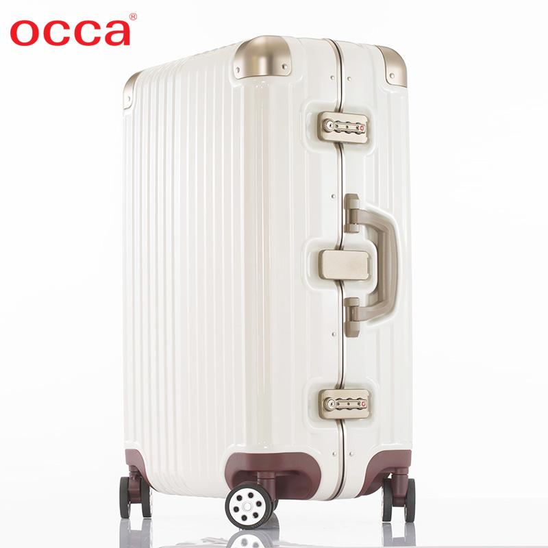 OCCA纯PC旅行箱 INS街拍风时尚拉杆箱 女20寸万向轮行李箱子男