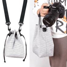 【送背带】佳能尼康富士索尼单反相机包小型微单内胆包防水保护套便携收纳袋单肩摄影包200D二代a7m3XS10适用