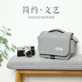 佳能相机包单反微单单肩男女摄影背包6D2800D80D200D二代90DM6M50