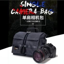 国家地理相机包单反单肩帆布多功能防水便携佳能尼康索尼摄影包