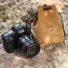 单反相机包镜头袋收纳包摄影便携内胆包复古佳能尼康索尼sony微单数码相机套黑卡防水帆布保护套200dm50m6