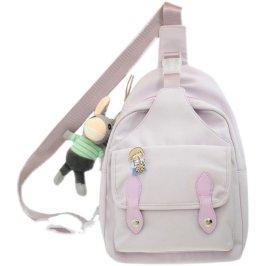 花曦家胸包单肩包女夏季小包ins斜挎包大容量紫色小众简约腰包#66
