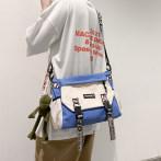 斜挎包男日系潮牌大容量单肩包休闲学生帆布包斜跨背包工装邮差包