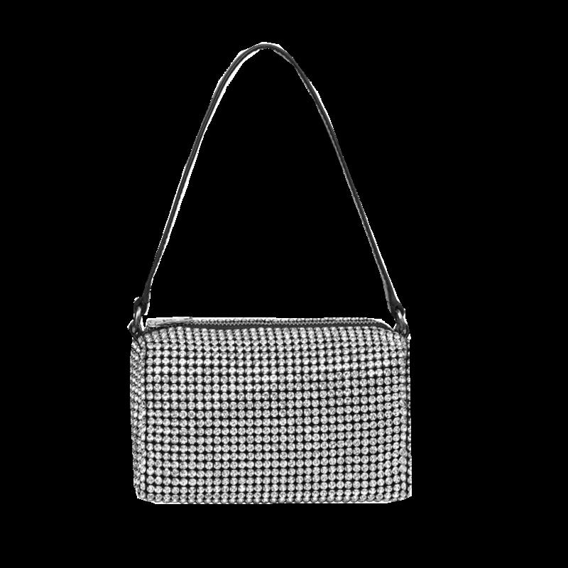 aw大王水钻包包 时尚腋下包 满钻钻石手提斜挎包包