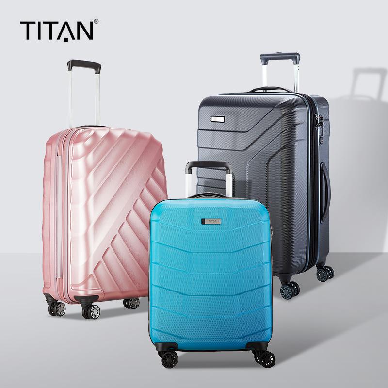 titan德国万向轮拉杆箱男女密码箱静音旅行商务行李箱24/28寸