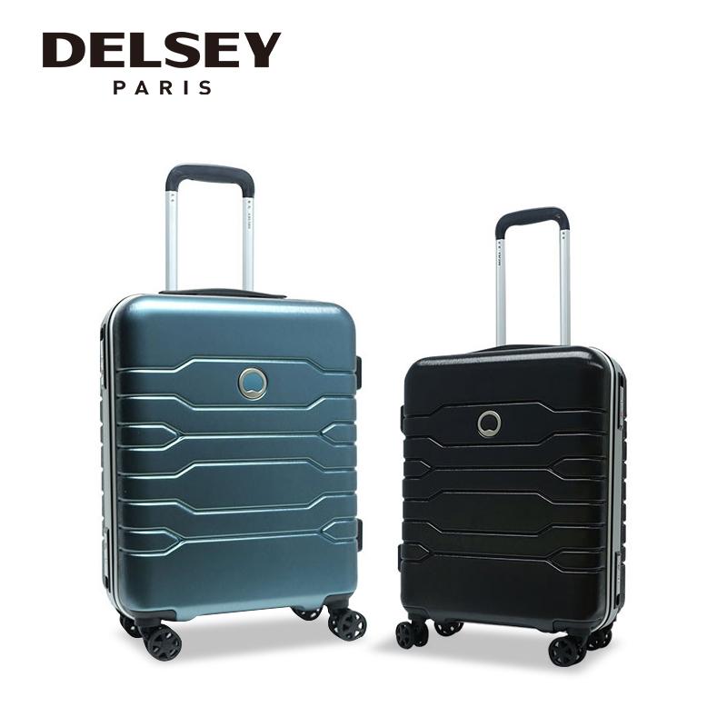 法国大使行李箱结实耐用加厚学生铝框拉杆箱