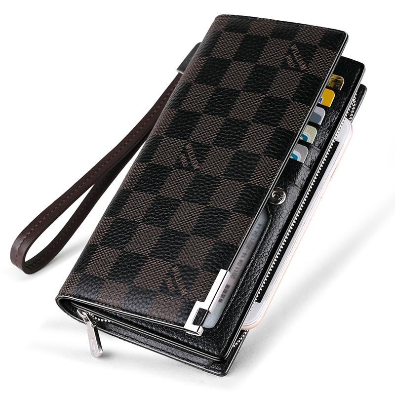 英皇保罗真皮男士钱包 新长大容量多功能手包