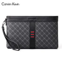 Cohnim Kevin男士手拿包真皮时尚夹包信封包手抓包