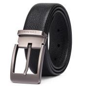 CarleKellen皮带男真皮针扣商务休闲男士腰带潮年轻人纯牛皮裤带