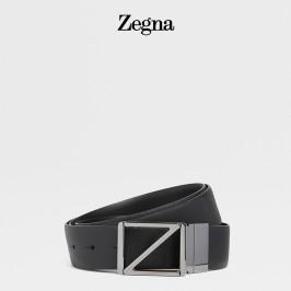 ZEGNA杰尼亚腰带 经典款男士Z字徽标腰带皮带男BSFNA5-603B-NER