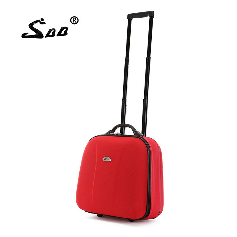 韩国登机箱 16寸拉杆箱单向轮男牛津布小旅行箱包