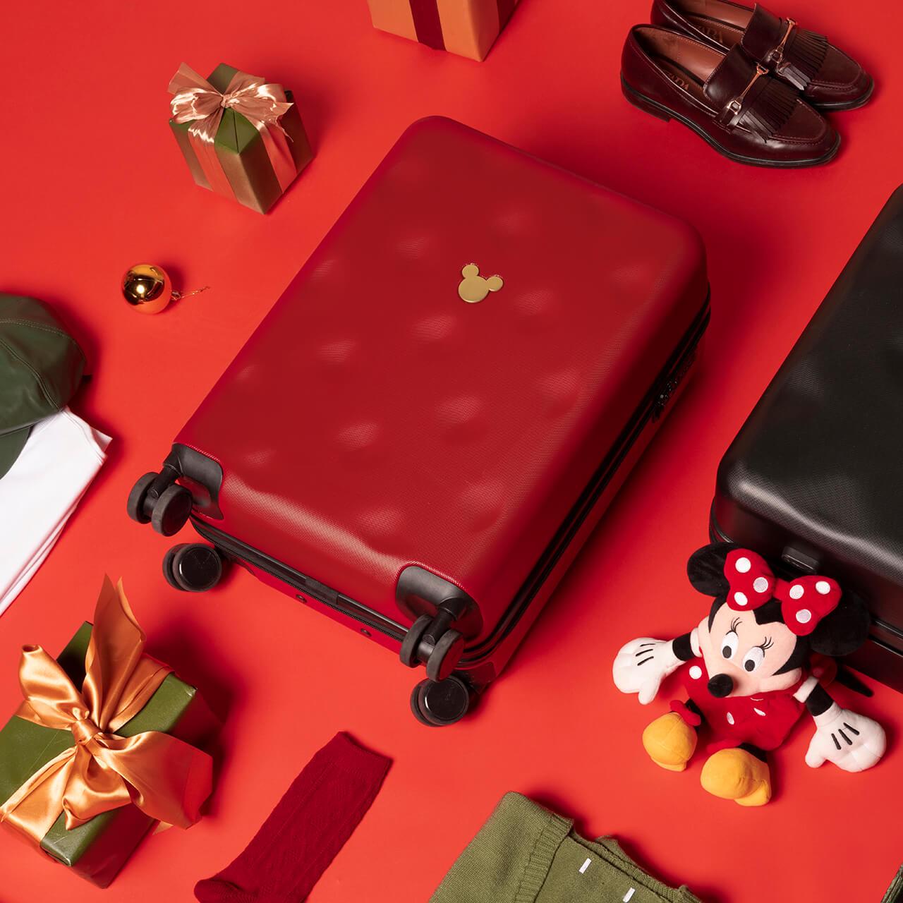 不莱玫迪士尼20寸行李箱女小型拉杆箱 登机轻便箱子
