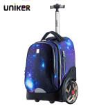 UNIKER初高中小学生拉杆书包可爬楼大轮子儿童旅行箱