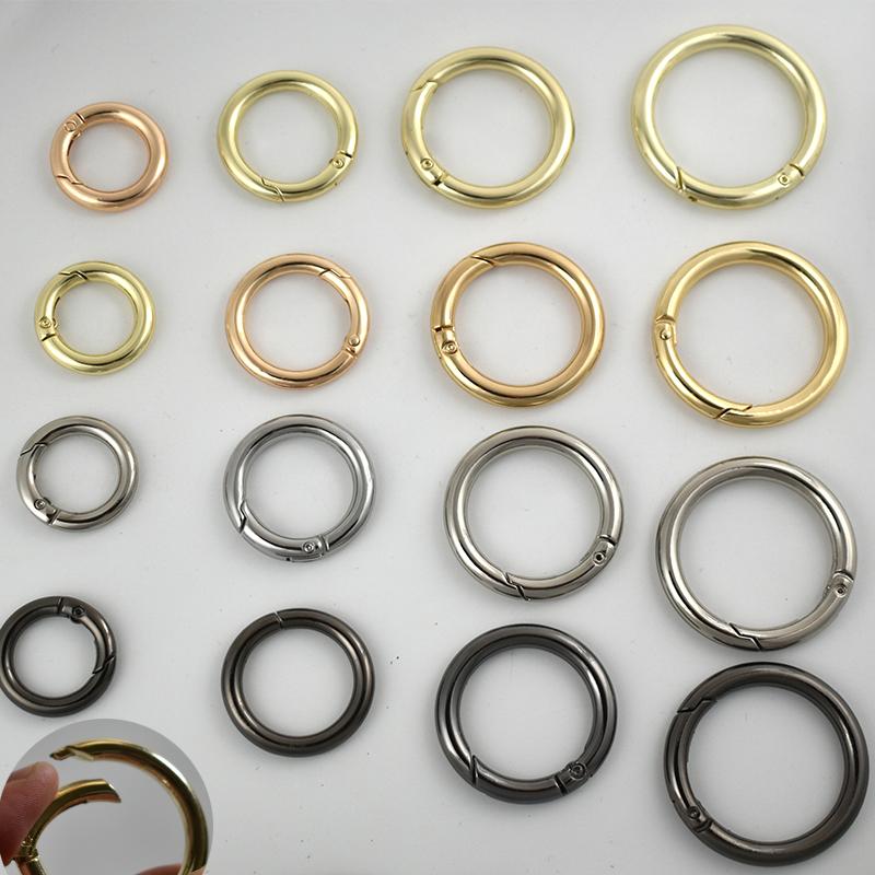 包包配件五金包包环扣开口环金属环弹簧圈链条卡扣