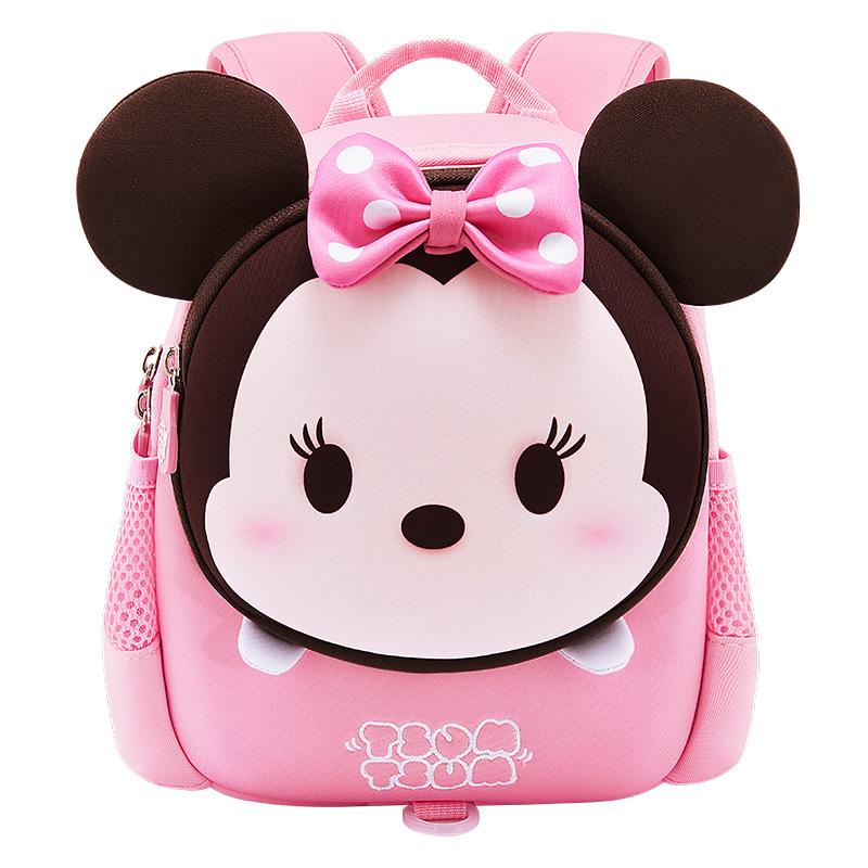 迪士尼幼儿园书包 2岁3班儿童防走失背包小书包