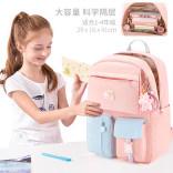 多妙屋书包小学生女童儿童护脊减负双肩包